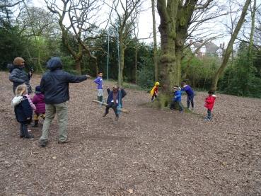 Forest School activity Fern Lodge Estate Streatham Common Lambeth-11